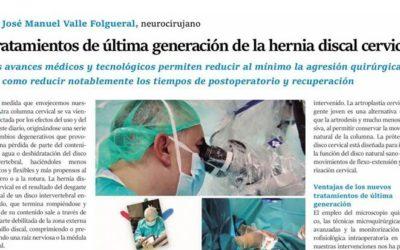 Tratamiento de última generación de la hernia discal cervical
