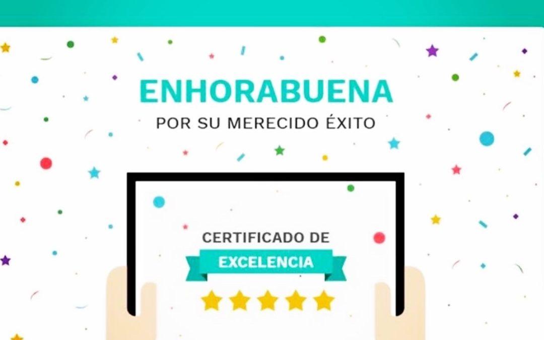 Certificado de excelencia médica que reconoce y sitúa al Dr. Valle Folgueral como uno de los neurocirujanos mejor valorados de España