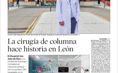 Diario de León: La cirugía de columna hace historia en León