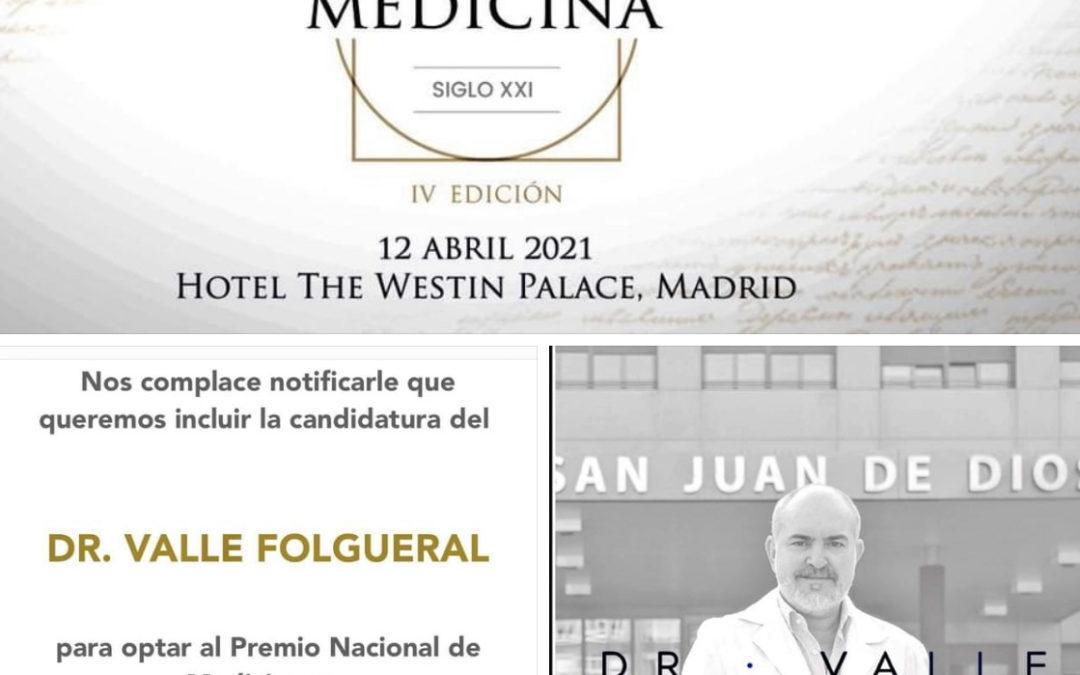Nominación para el Premio Nacional de Medicina en Neurocirugía