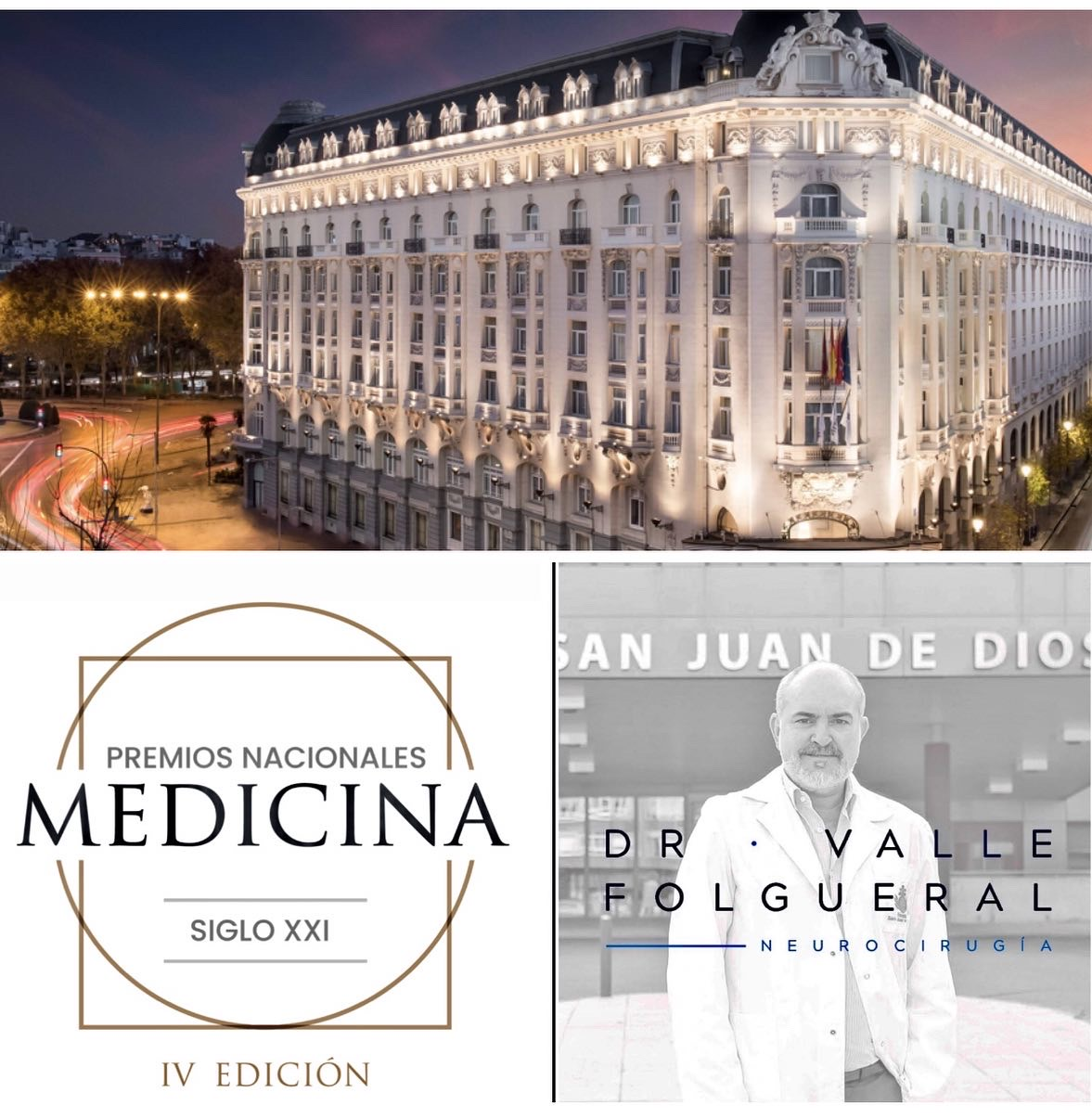 Premio Nacional de Medicina en Neurocirugía